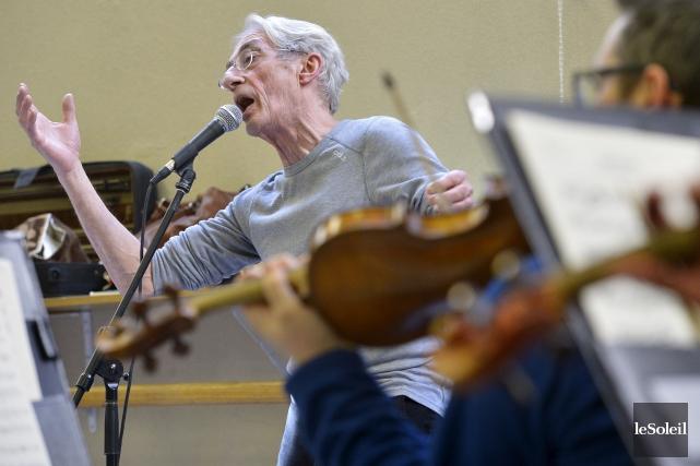 Richard Desjardins a répété avec l'Orchestre symphonique de... (Le Soleil, Yan Doublet)