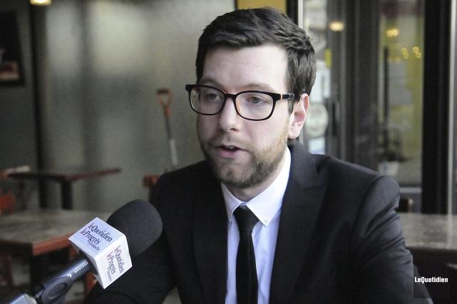 Alex Tyrell, chef du Parti vert du Québec... (Photo Le Quotidien, Mariane L. St-Gelais)