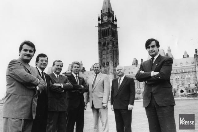 Le libéral Jean Lapierre et le conservateur François... (Archives, La Presse)