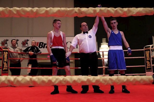 Alexis Grenier a remporté son duel quart de... (Boxing Canada)