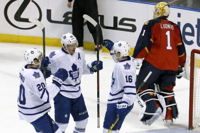 Nazem Kadri a réussi un tour du chapeau alors que les Maple Leafs de Toronto... (PHOTO AP)