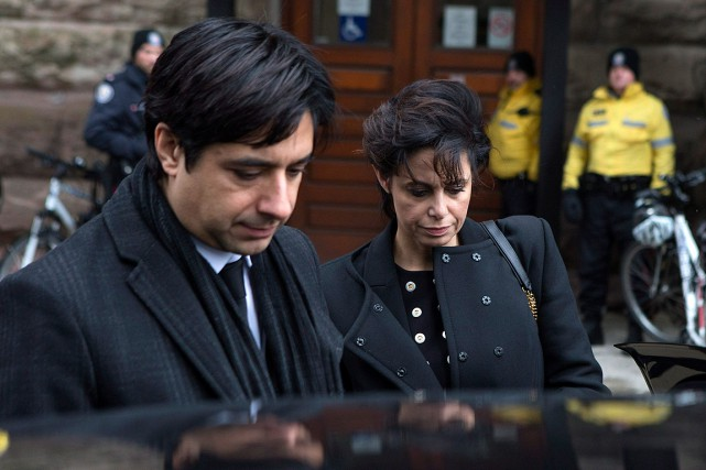 Jian Ghomeshi et son avocate Marie Henein, photographiés le... (Photo Chris Young, archives PC)