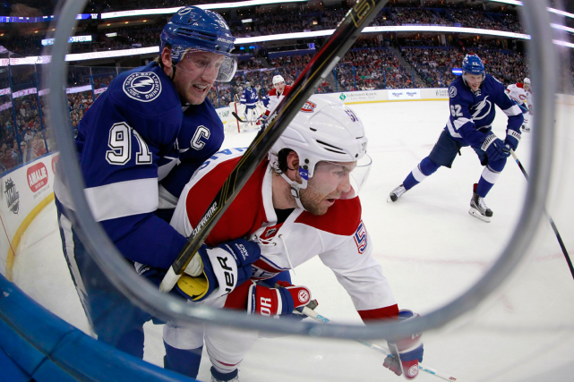 Steven Stamkos et David Desharnais... (Photo Kim Klement, archives USA Today)