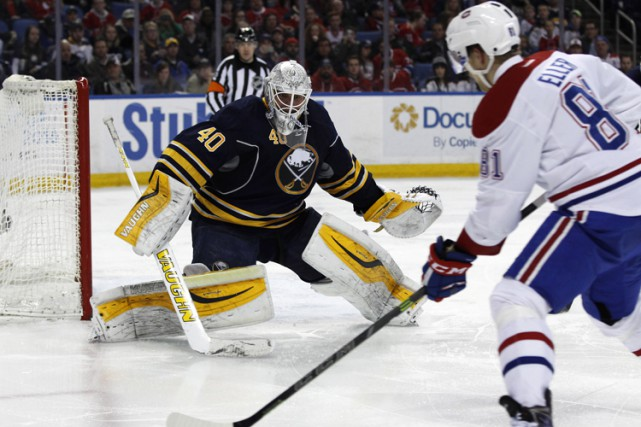 Robin Lehner face au Canadien le 16 mars... (PHOTO REUTERS)