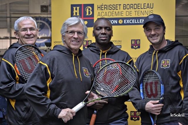Jacques Bordeleau, Jack Hérisset, Sam Aliassime et Yanick... (Le Soleil, Patrice Laroche)