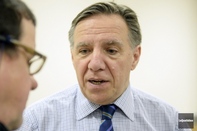 Le chef de la CAQ, François Legault... (Photo Le Quotidien, Jeannot Lévesque)