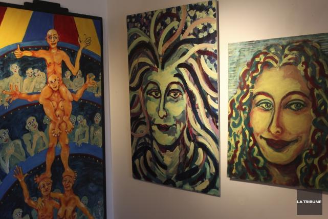Les oeuvres de Martine Birobent font l'objet d'une... (La Tribune, Yvan Provencher)