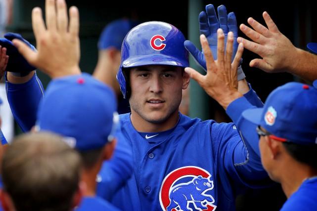 Anthony Rizzo et les jeunes Cubs sont prêts... (AP, Matt York)