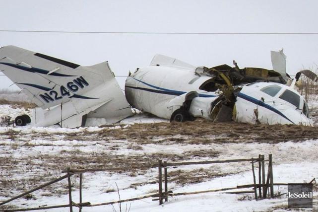 L'avion dans lequel prenaient place Jean Lapierre et... (Photothèque Le Soleil, PC)
