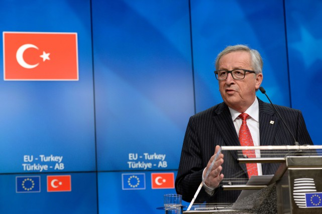 Le président de la Commission européenne,Jean-ClaudeJuncker... (Thierry Charlier, Archives AFP)