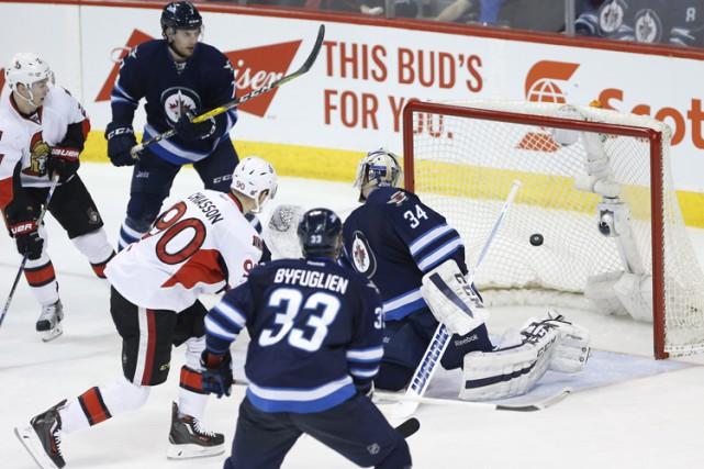 Alex Chiasson et Zack Smith ont marqué alors que les Sénateurs d'Ottawa ont mis... (PHOTO PC)