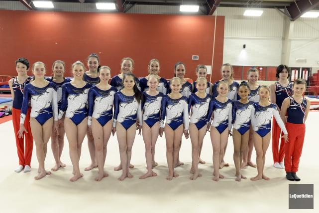 Vingt-deux athlètes du club de gymnastique Sagym prendront... (Photo Le Quotidien, Jeannot Lévesque)