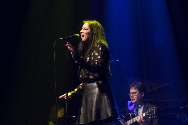 La chanteuse Emilie-Claire Barlow a semblé beaucoup apprécier... (Stéphane Lessard)