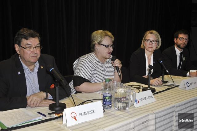 Les candidats à l'élection partielle dans Chicoutimi, Pierre... (Photo Le Quotidien, Rocket Lavoie)