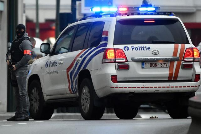 La sécurité a été grandement élevée en Belgique... (PHOTO JOHN THYS, ARCHIVES AFP)