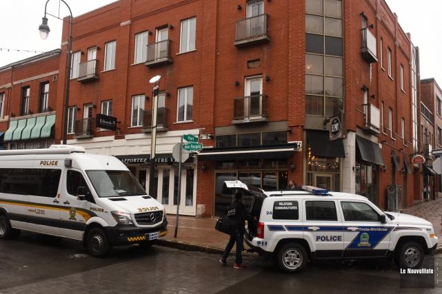Une vaste opération policière a eu lieu jeudi... (Photo: François Gervais Le Nouvelliste)