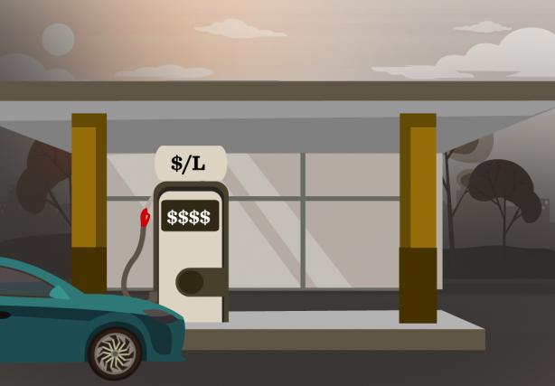 «Le prix à la pompe dépend d'une multitude... (ILLUSTRATION LA PRESSE)