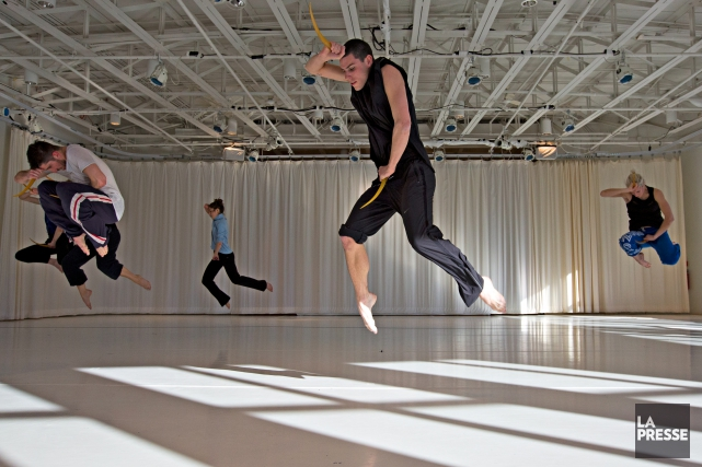 Les danseurs de la compagnie Marie Chouinard en... (PHOTO OLIVIER JEAN, LA PRESSE)