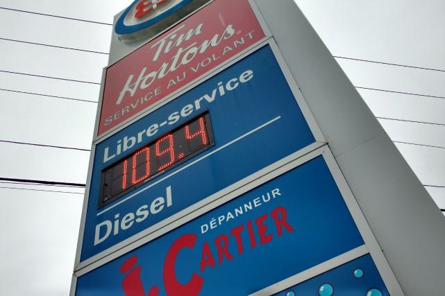 Certaines stations service affichaient 1,09 $ le litre... (Spectre Média, René Marquis)