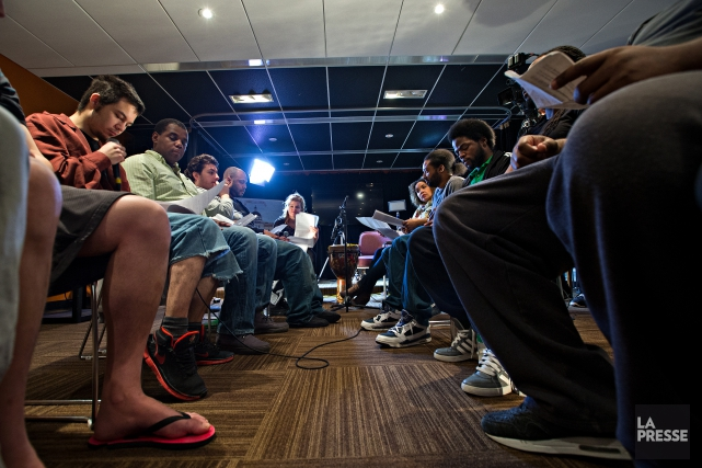 La Presse a assisté à la répétition et... (PHOTO PATRICK SANFAÇON, LA PRESSE)
