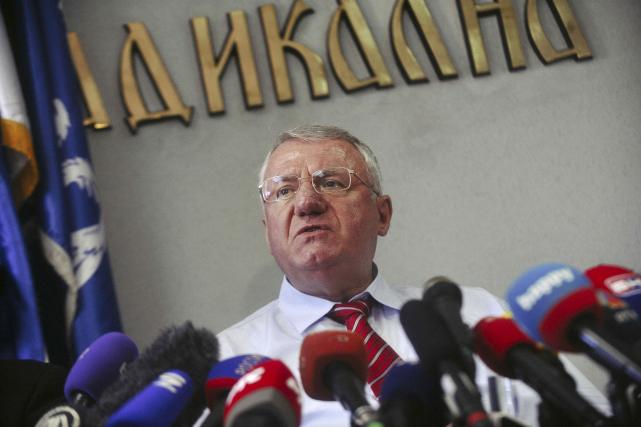 Vojislav Seselj , en conférence de presse après... (AFP, ALEXA STANKOVIC)