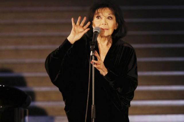 Juliette Gréco lors d'un concert au musée du... (PHOTO ARCHIVES AFP)