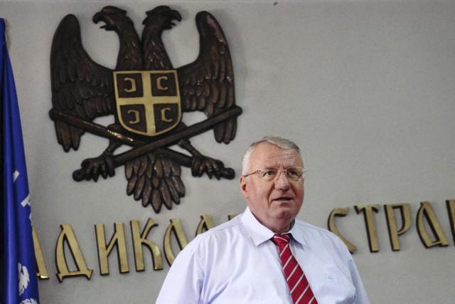 Le leader ultra-nationale serbe, Vojislav Seselj, a été... (Alexa Stankovic, AFP)