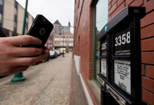 Le projet d'application mobile pour payer le stationnement... (Spectre Média, Jessica Garneau)