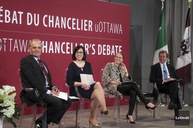 Le nouveau chancelier de l'Ud'O, Calin Rovinescu, la... (Etienne Ranger, LeDroit)