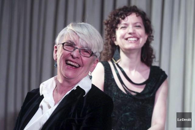 Brigitte Haentjens et Mélanie Dumont, du Théâtre français.... (Etienne Ranger, LeDroit)