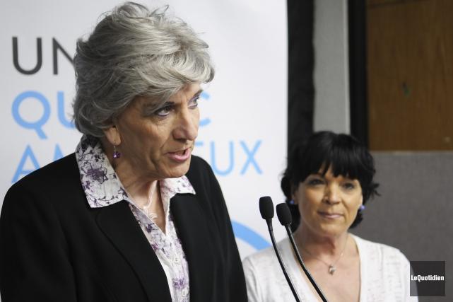 Russel-Aurore Bouchard a tenu à accorder son appui... (Photo Le Quotidien, Mariane L. St-Gelais)