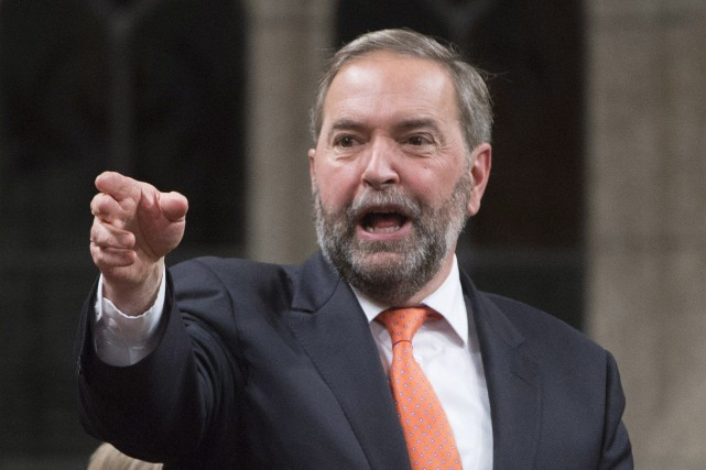 NDP Leader Tom Mulcair responds to the government's... (PHOTO ADRIAN WYLD, ARCHIVES LA PRESSE CANADIENNE)