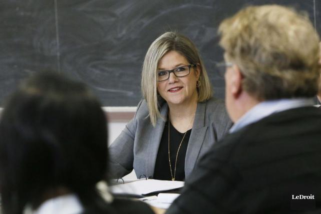 La chef du NPD de l'Ontario, Andrea Horwath... (Simon Séguin-Bertrand, archives Le Droit)