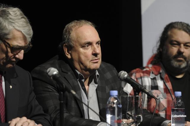Pierre Mazurette, président de Diffusion Saguenay, Robert Doré,... (Photo Le Quotidien, Mariane L. St-Gelais)