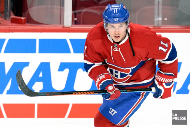 Brendan Gallagher est absent depuis le 5 mars en... (Photo Bernard Brault, archives La Presse)