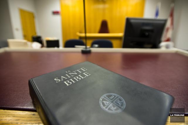 Le père de Simon Fortier a été appelé à la barre comme dernier témoin des... (Archives La Tribune, Jessica Garneau)