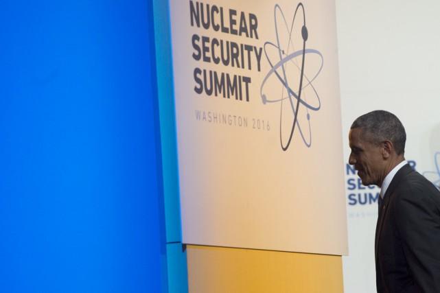 Barack Obama, qui quittera le pouvoir en janvier,... (PHOTO SAUL LOEB, AFP)