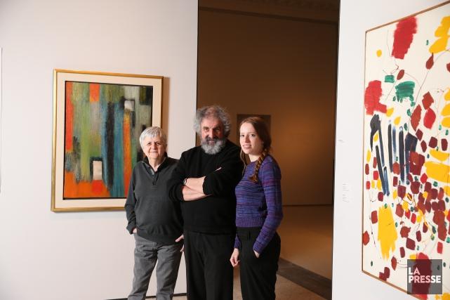 Les trois commissaires de l'exposition L'Actuelle, une galerie... (PHOTO MARTIN CHAMBERLAND, LA PRESSE)