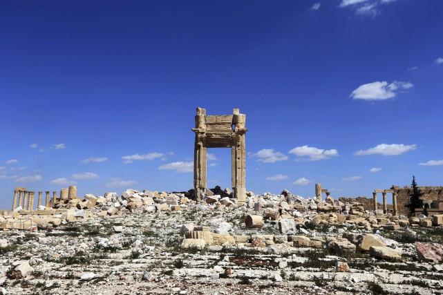 La cella du temple de Bêl, la partie... (Joseph Eid, AFP)