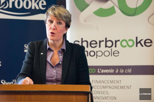 La directrice générale de Sherbrooke Innopole Josée Fortin... (Archives, La Tribune)