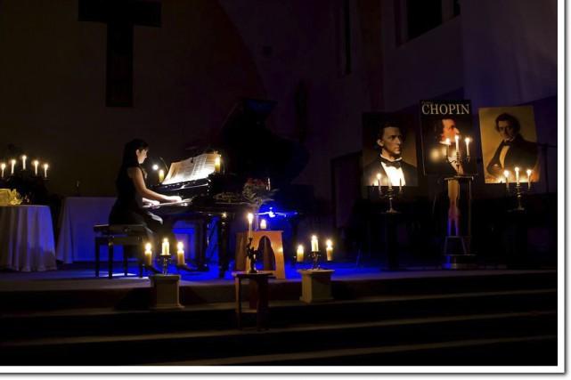 Chopin sous les chandelles... (Fournie)