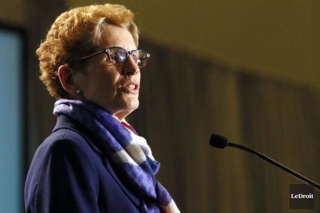 La première ministre de l'Ontario, Kathleen Wynne... (Simon Séguin-Bertrand, LeDroit)