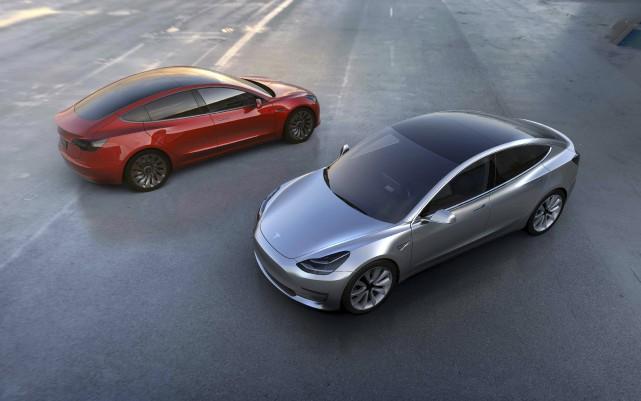 La berline compacte Tesla Model 3, au prix... (Fournie par Tesla)