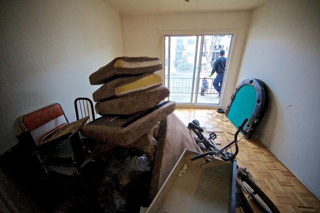 L'appartement de la rue Arthur-Chevrier où le SPVM... (PHOTO ANDRÉ PICHETTE, LA PRESSE)