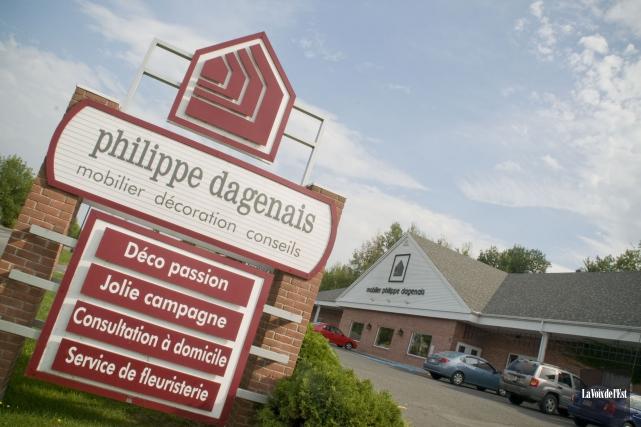 Mobilier Philippe Dagenais se retrouve en bien mauvaise posture. L'entreprise... (Archives, La Voix de l'Est)