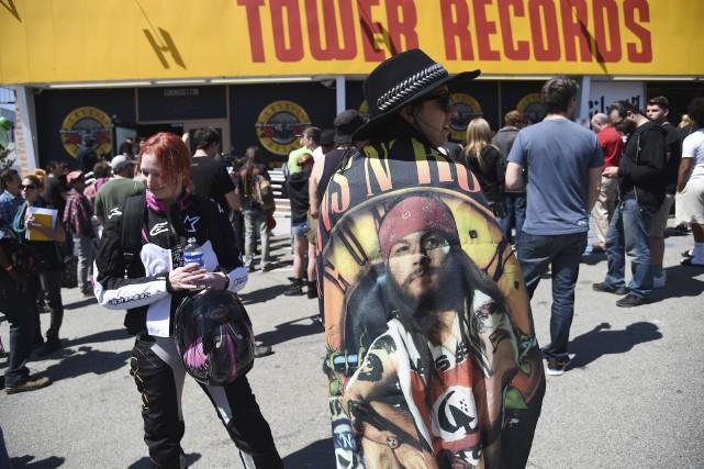 Les Guns N' Roses, légende du hard rock américain, ont fait vendredi soir leur... (Agence France-Presse)