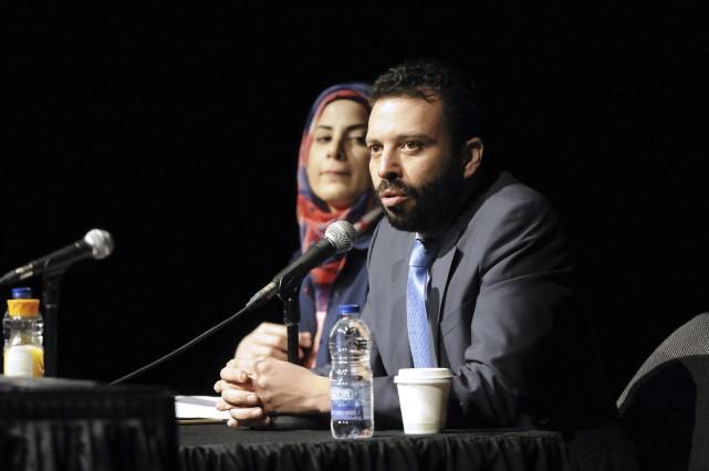 Haroun Bouazzi, cofondateur de l'Association des musulmans et... (Photo Le Progrès-dimanche, Mariane L. St-Gelais)