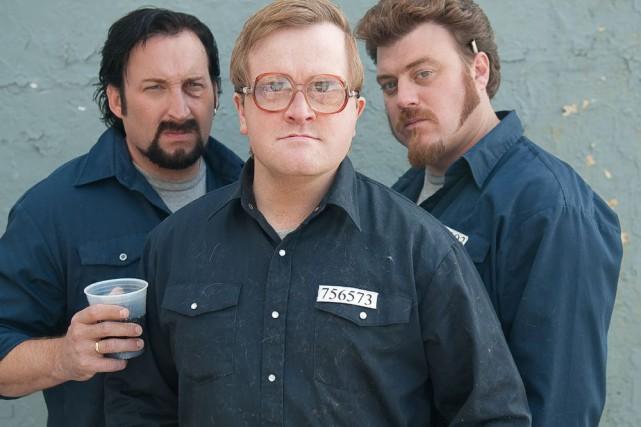 Mike Smith (au centre) dans Trailer Park Boys... (Fournie par Alliance Vivafilm)