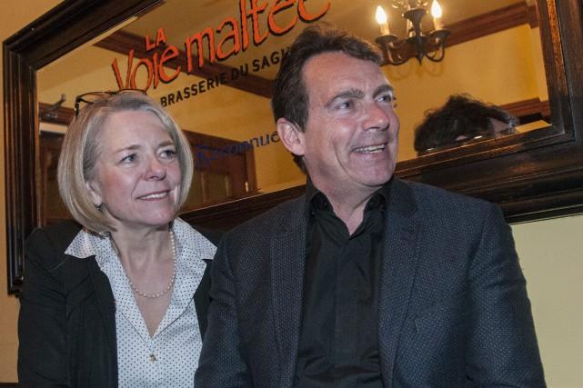 Mireille Jean et Pierre Karl Péladeau... (Photo Michel Tremblay, archives Le Progrès-dimanche)