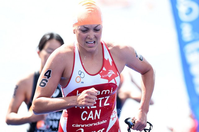 L'athlète de Blainville est restée parmi les meneuses... (Photo d'archives Delly Carr, fournie par ITU)